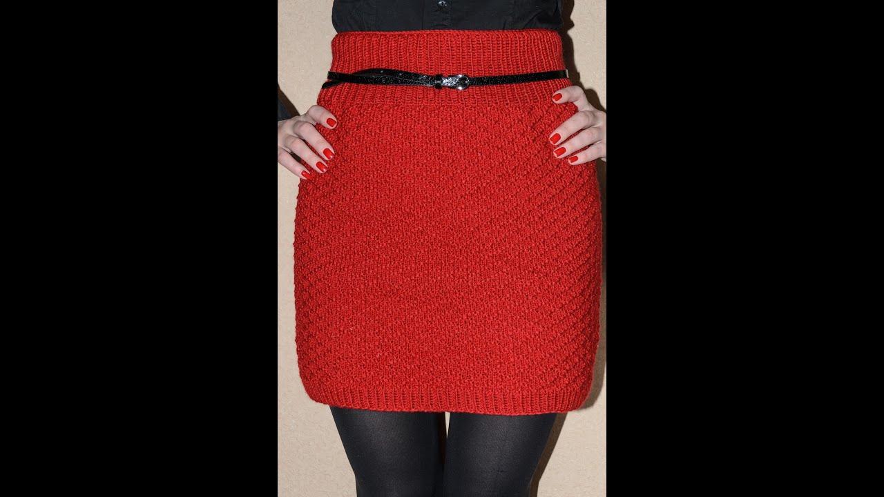 Вязание спицами юбка простая