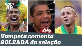 """Brasil 5 x 0 Peru: """"Não fez mais que a OBRIGAÇÃO"""", dispara Vampeta"""