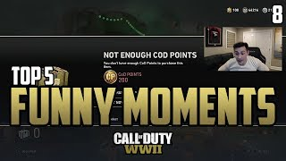 Censor RAGES! - COD WWII: TOP 5 PRO FUNNY MOMENTS #8 - Call of Duty World War 2