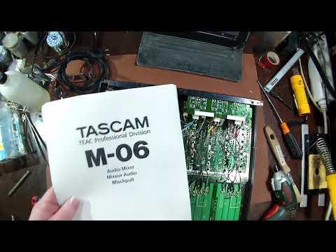 Si098 - Reparação de misturadora de som, Tascam M-06 - 1/3
