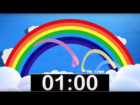 Rainbow Timer 1 Minute Countdown with Music for Kids!