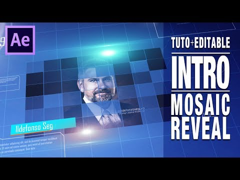 Tutorial After Effects // Intro futurística aparición en mosaico by @ildefonsosegura