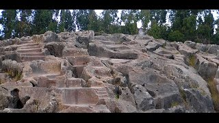 Flying Over Megalithic Cusco Peru: Qenqo