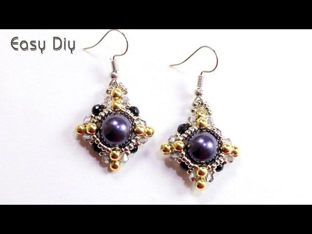 Easy diy beaded earrings for beginers - How to make beaded earrings - jewelry making earrings