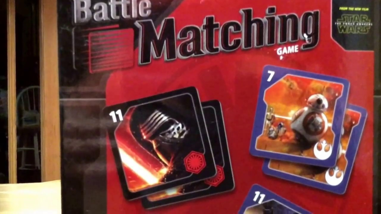 Uncategorized Star Wars Matching Game star wars battle matching game asmr review youtube review