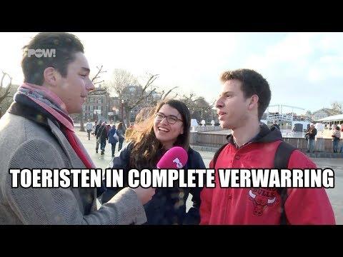 Letters I amsterdam weg - toeristen in complete verwarring