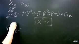 Перевод чисел из восьмеричной в десятичную систему счисления. Лекция по информатике №2
