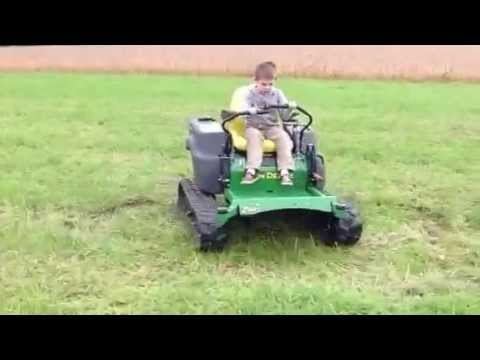 John Deere Zero Turn With Tracks Youtube