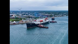 T.S Kennedy departs for Texas! 4K drone footage.