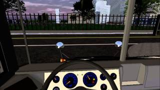 Rigs Of Rods School Bus Driving - Blue Bird Vision - AM Route