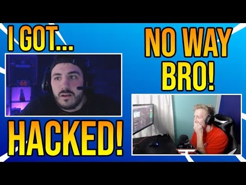 Tfue Reacts To NickMercs Getting *HACKED*  on Stream