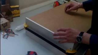 Сборка выдвижного ящика под направляющие скрытого монтажа