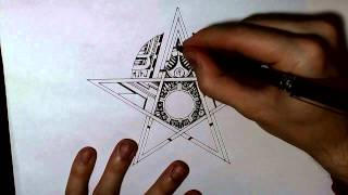 How Doodle An Awesome Star (40x Speed)