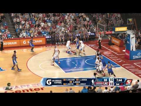 NBA 2K14 (PS4): Warriors at Clippers (CPU vs CPU)