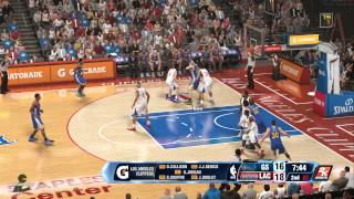 NBA 2K14 (PS4): Warriors at Clippers (CPU vs CPU)