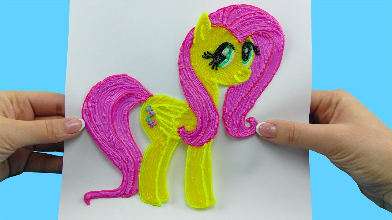 Fluttershy my little pony with 3d pen amazing video for for My little pony craft ideas