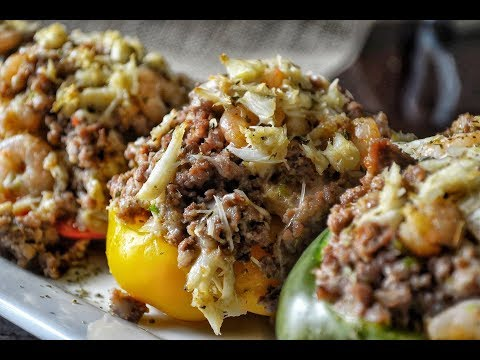 Seafood Stuffed Peppers-How To Make Stuffed Bell Peppers