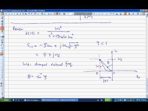 ENGR487 Lecture13 Mapping from s to z-plane
