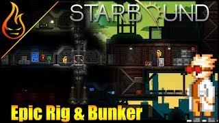 Starbound 1.3 Epic Builds Oil Rig and Hidden Bunker
