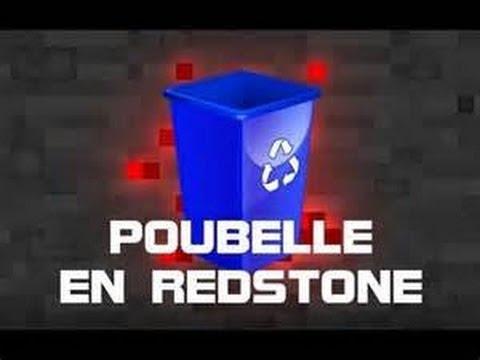 tuto comment faire une poubelle en redstone ergun895 youtube. Black Bedroom Furniture Sets. Home Design Ideas