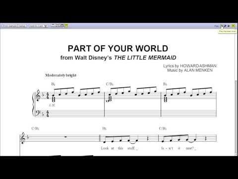 Part of Your World by Jodi Benson - Piano Sheet Music:Teaser