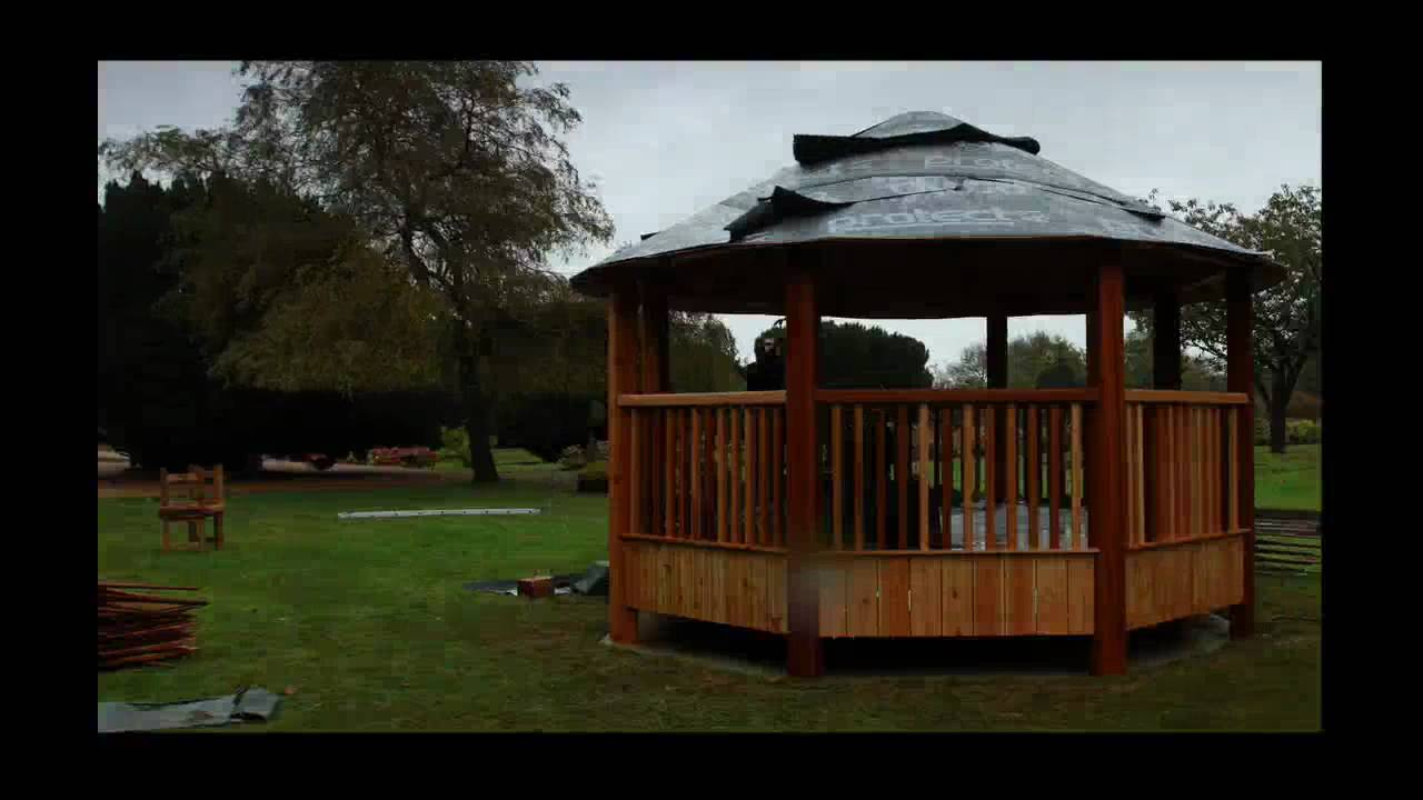 garden pavilion installation for outdoor weddings at