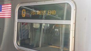 MTA New York City Subway: R160B Siemens (Q) Train via the (D) line Announcements