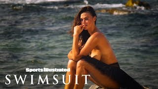 Myla Dalbesio Poses With Flamingos Wearing Only Feathers | Uncovered | Sports Illustrated Swimsuit