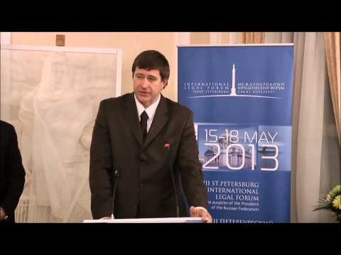 Minister of Justice of the Russian Federation, Alexander Konovalov at the Russian Embassy