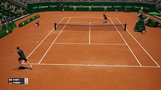 Dominic Thiem vs. Alexander Zverev - AO Internationalen Tennis-PS4 Gameplay