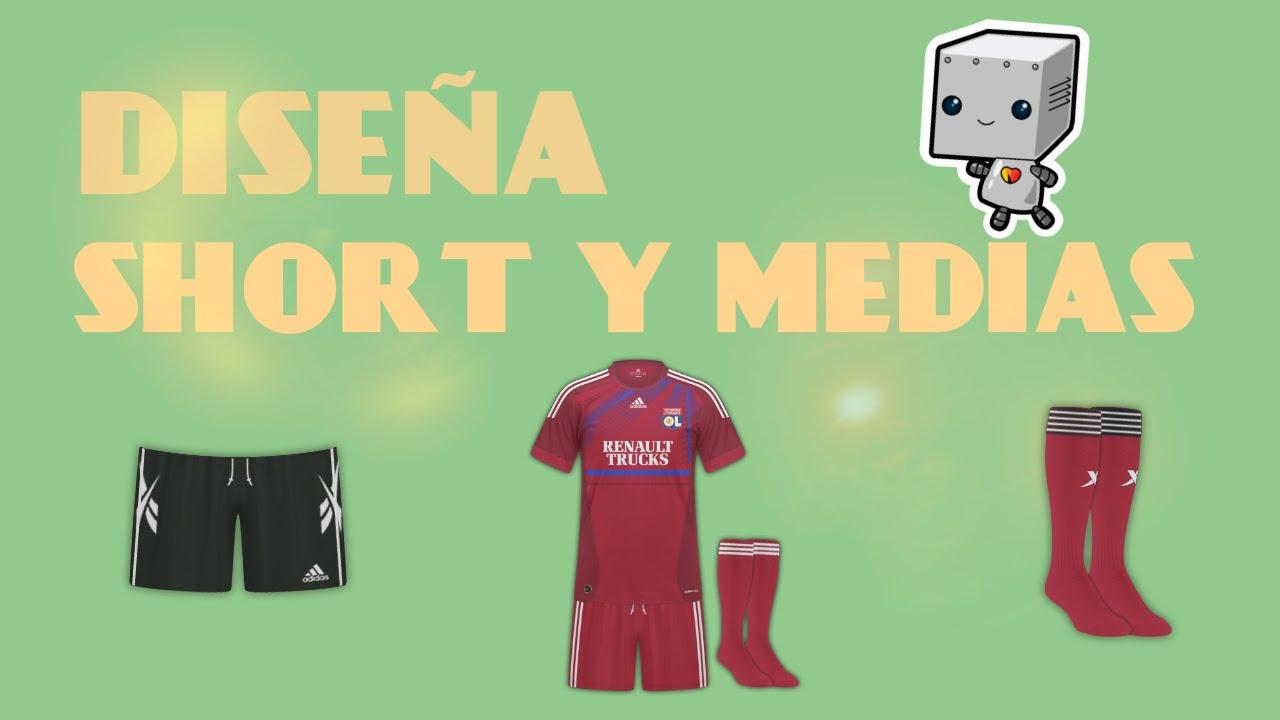 Como Crear Camisetas de Fútbol  Short ce86c8a66ff02