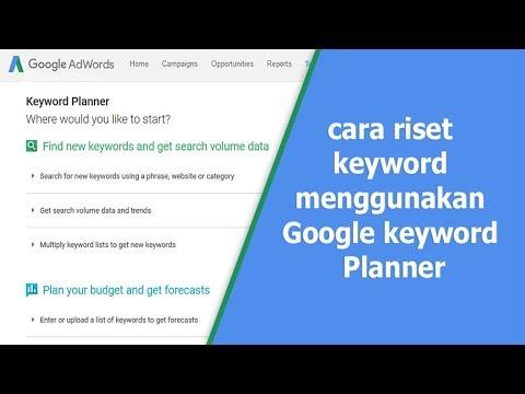 ini merupakan Cara daftar dan mengunakan Google keyword planner secara gratis untuk para pengguna go.