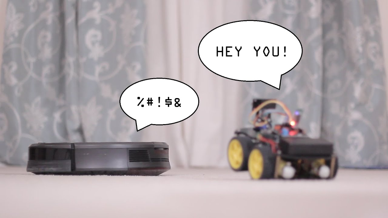 Arduino Robot Car Fights Roomba