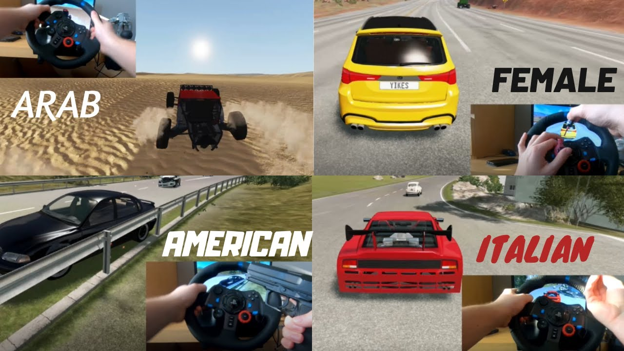 Types Of Drivers In Beamng Drive Youtube