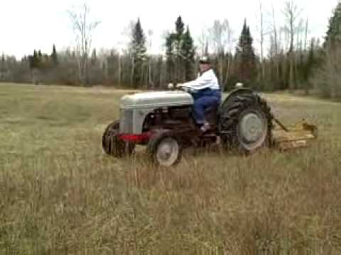 9n Ford Tractor >> 2N Ford tractor 5' mower demenstration - YouTube