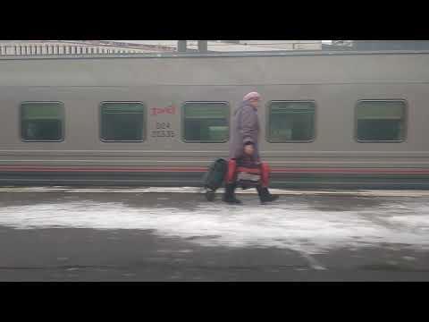 Отправление с Казанского вокзала Москвы из окна поезда 94 Москва - Пенза