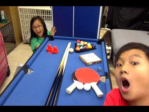 Unboxing The 4 in 1 Pool Table | Table Tennis , Chinese Chess , 8 BallPool, and air Hockey !!!
