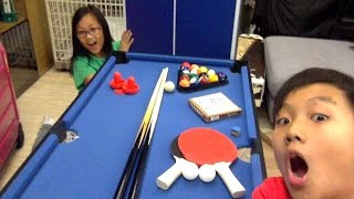 Unboxing The 4 In 1 Pool Table   Table Tennis , Chinese Chess , 8 Ball  Pool, And Air Hockey !!!