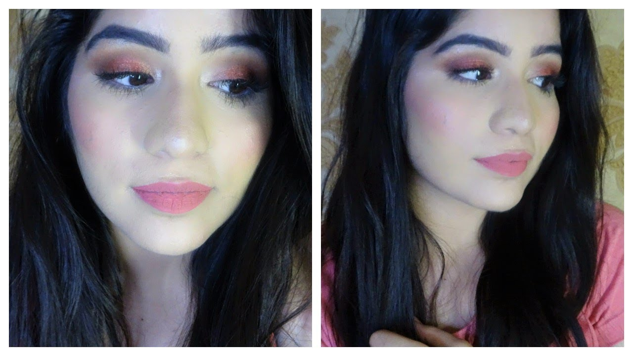 How To Do Simple Full Face Makeup Tutorial In Hindi - YouTube