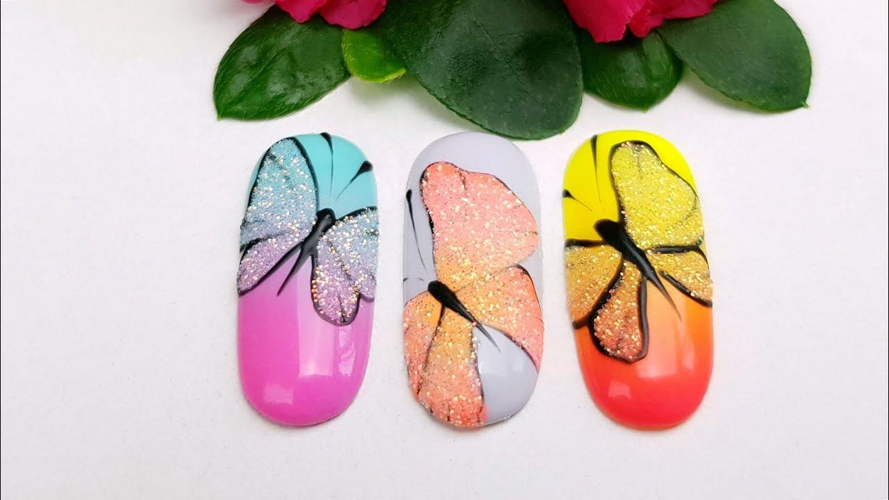 Motyl Na Paznokciach Wiosenne Inspiracje Butterfly On Nails