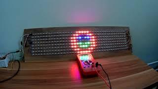 Arduino + WS2812B + NeoMatrix + GFX