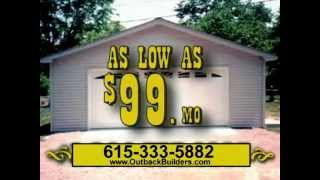 Custom Built Garages - Outback Builders