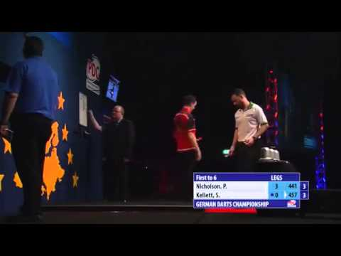 German Darts Championship Second Round Paul Nicholson v Stuart Kellett