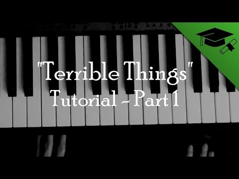 """Terrible Things"" Part 1 - Israel's Cross piano tutorial of Mayday Parade"
