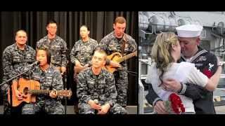 Images taken from Navy.mil CSADD Monterey performs a mash-up of different deployment-themed songs.