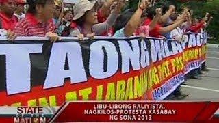 SONA: Kilos protesta kasabay ng SONA 2013, nauwi sa girian