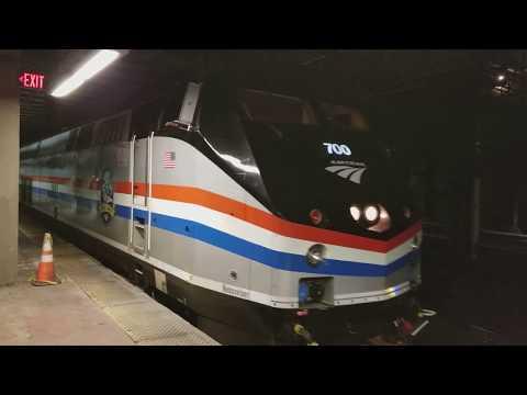 Amtrak Empire Service departs NY Penn Station