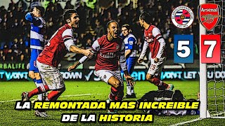 La REMONTADA MAS INCREÍBLE 😮 de la HISTORIA (Reading 5 Arsenal 7)