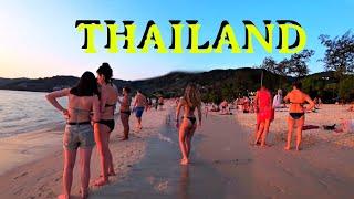 THAILAND PHUKET BEACH LIVE Закат на пляже Патонг