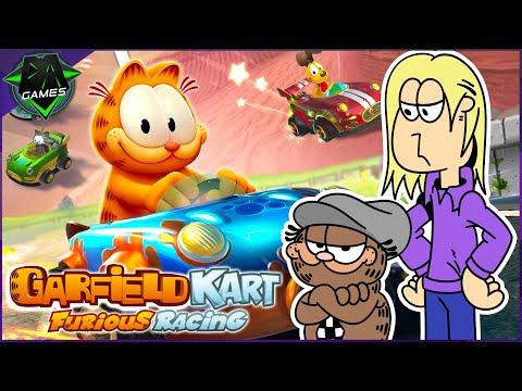 EAT MY KITTY LITTER! | GARFIELD KART FURIOUS RACING (WILL AND @Aficionados Chris) | DAGames |